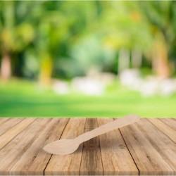 Cucharita de madera, revestimiento ecológico