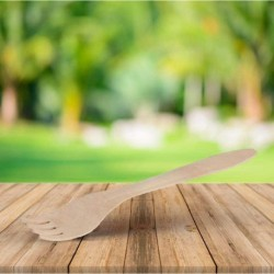 Tenedor de madera, revestimiento ecológico