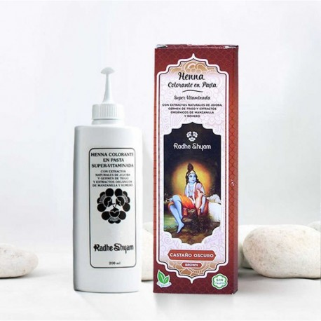Henna en pasta 'Castaño Oscuro' - Radhe Shyam -