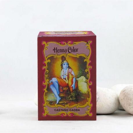 Henna en polvo 'Castaño Caoba' - Radhe Shyam -