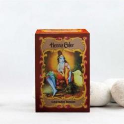 Henna en polvo 'Castaño Medio' - Radhe Shyam -